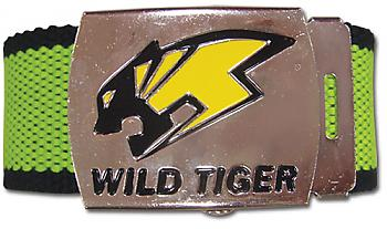 Tiger & Bunny Fabric Belt - Wild Tiger Logo