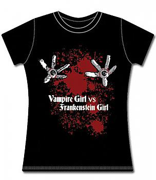 Vampire Girl vs Frankenstein Girl T-Shirt - Eyeball (XL)