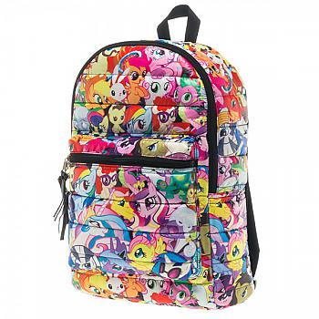 My Little Pony Backpack - Pony All Over Print Puffy
