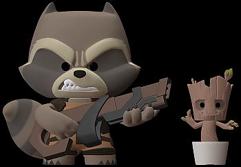 Guardians of the Galaxy Super Deluxe Figure - Rocket Raccoon
