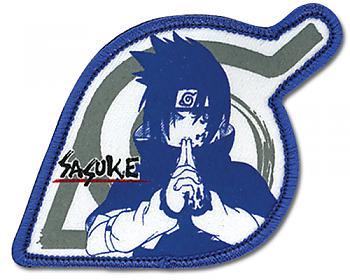 Naruto Patch - Sasuke Blue Leaf Logo