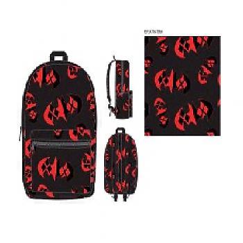 Batman Backpack - Batman Emblem Harley Quinn Pattern Sublimated