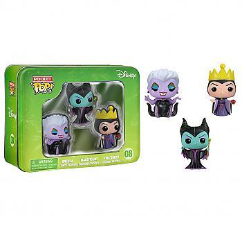Villains Pocket POP! Vinyl Figure - Maleficent, Evil Queen and Ursula (Display of 3) (Disney)