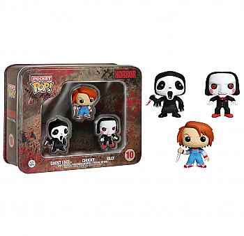 Horror Movies Pocket POP! Vinyl Figure - Ghostface, Chucky and Billy (Display of 3)