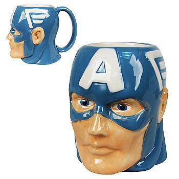 Captain America Mug - Captain America Head Sculpt