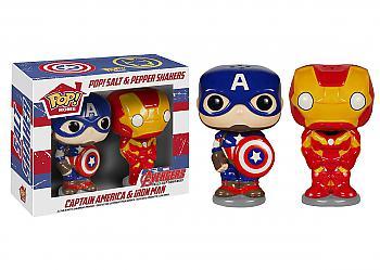 Avengers Age of Ultron POP! Home Salt N' Pepper Shakers - Captain America & Iron Man