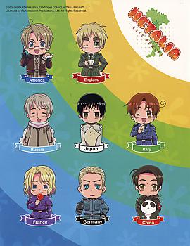 Hetalia Sticker - Character Cutout  Sheet