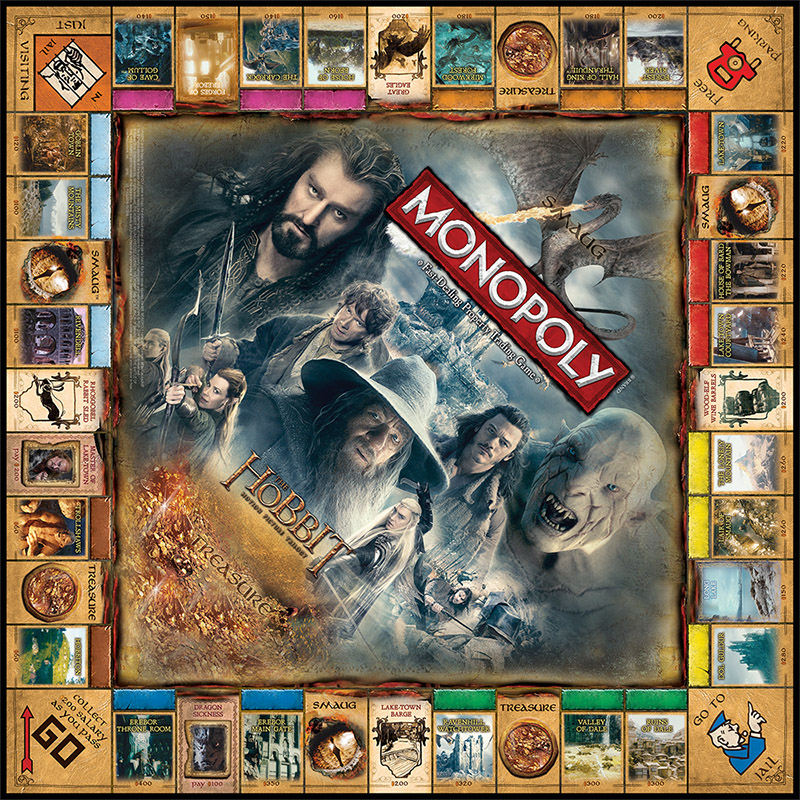 Lord Of The Rings Trilogy Edition Monopoly Board Game