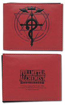 FullMetal Alchemist Brotherhood Wallet - Flamel Cross Red