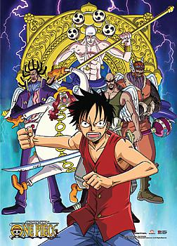 One Piece Wall Scroll - Luffy Vs. Enel's Warrirors