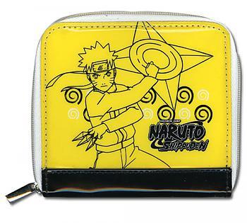 Naruto Shippuden Wallet - Naruto Shuriken Yellow Purse