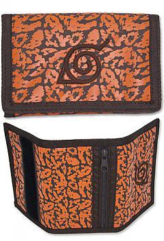 Naruto Shippuden Wallet - Orange Charka Konaha Symbol