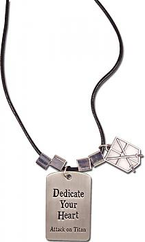 Attack on Titan Necklace - 104th Training Regiment 'Dedicate Your Heart'