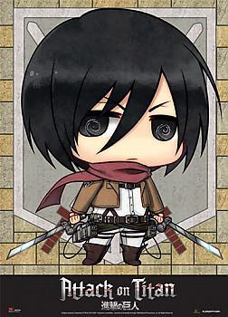 Attack on Titan Wall Scroll - SD Mikasa