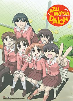 Azumanga Daioh Wall Scroll - Group on Bench