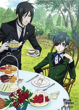 Black Butler Fabric Poster - Sebastian & Ciel Tea Time