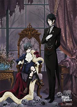 Black Butler Fabric Poster - Sebastian & Ciel Window Chair