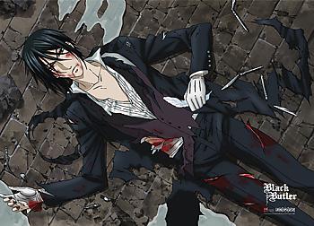 Black Butler Fabric Poster - Sebastian Wounded [LONG]