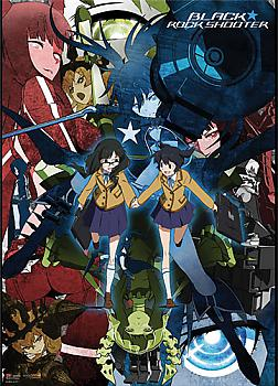 Black Rock Shooter Fabric Poster - Collage