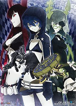 Black Rock Shooter Fabric Poster - Gold Saw, Black Rock, Dead Master