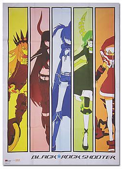 Black Rock Shooter Fabric Poster - The Spectrum Girls