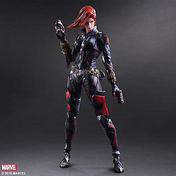 Black Widow Play Arts Kai Action Figure - Black Widow Variant (Marvel)