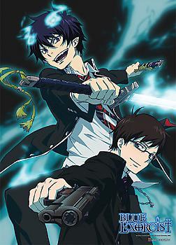 Blue Exorcist Fabric Poster - Rin & Yukio Battle