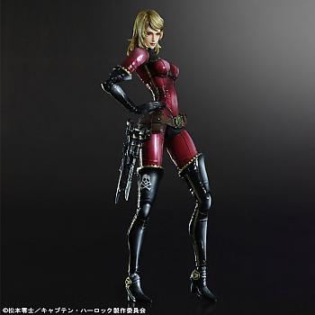 Space Pirate Captain Harlock Play Arts Kai Action Figure - Kei Yuki