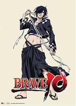 Brave 10 Wall Scroll - Rokuro