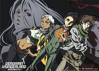 Deadman Wonderland Fabric Poster - Ganta, Nagi, Karako, Shiro [LONG]