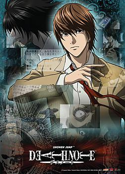 Death Note Wall Scroll - Light and L Collage