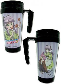 Everyday Tales of a Cat God Tumbler Mug with Handle - Yuzu and Shamo