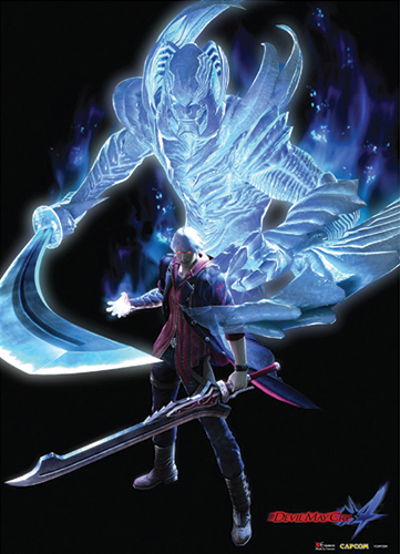 5445a66e22ef Devil May Cry 4 Fabric Poster - Nero Devil Trigger