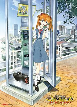 Evangelion Wall Scroll - Asuka Phone Booth
