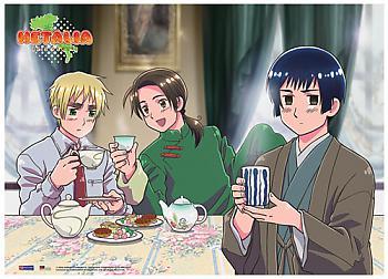 Hetalia Fabric Poster - Tea Time [LONG]