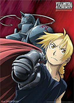 Fullmetal Alchemist Brotherhood Fabric Poster - The Elric Brothers