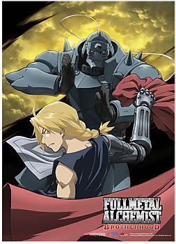 Fullmetal Alchemist Brotherhood Fabric Poster - Ed and Al Moon