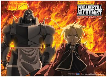 Fullmetal Alchemist Brotherhood Fabric Poster - Ed and Al Fire [LONG]