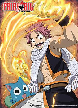 Fairy Tail Wall Scroll - Natsu Happy Fired Up