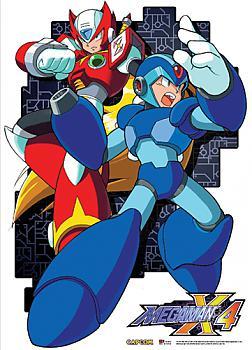 Mega Man X4 Fabric Poster - Mega Man and Zero