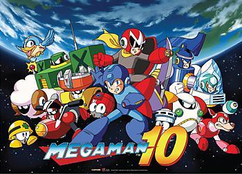 Mega Man 10 Fabric Poster - Mega Man 10 Key Art [LONG]
