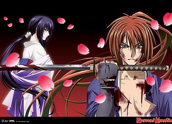 Kenshin Wall Scroll - Samurai X Kenshin & Tomoe [LONG]