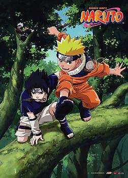 Naruto Wall Scroll - Naruto and Sasuke Forest