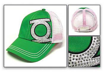 Green Lantern Cap - Green Studded Logo