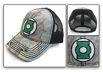 Green Lantern Cap - Hal Jordan and Corp Trucker