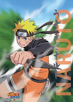 Naruto Shippuden Wall Scroll - Naruto Kunai Attack