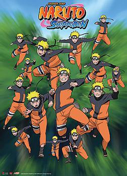 Naruto Shippuden Wall Scroll - Kage Bushin/Shadow Clone Attack