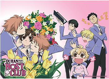 Ouran High School Host Club Fabric Poster - Smothered Haruhi