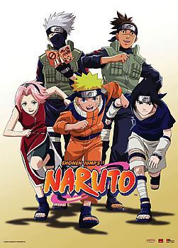 Naruto Wall Scroll - Team 7 Charge