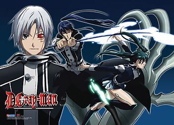 D Gray Man Wall Scroll - Allen/Kanda/Lenalee Battle [LONG]